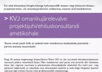 KVJ OMANIKUJÄRELEVALVE PROJEKTIJUHT/EHITUSKONSULTANT